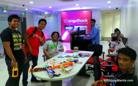 Voyager innovation office entrance & AngelHack Manila Registration Area