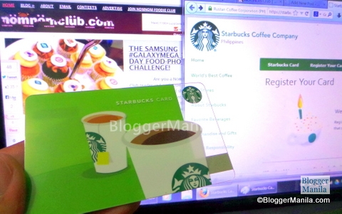 Register Starbucks Card Online