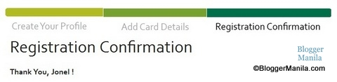 Registration Confirmation