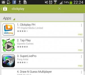 ClickPlay on Android
