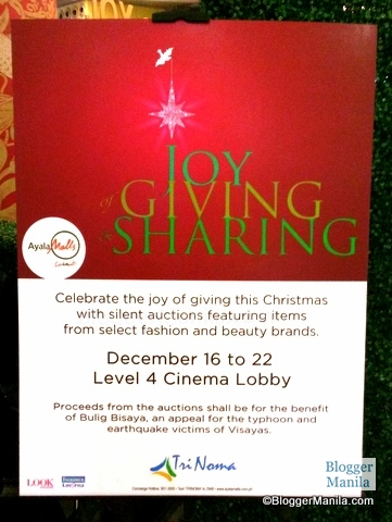 """""""Joy of Giving & Sharing"""" Silent Auction Poster"""