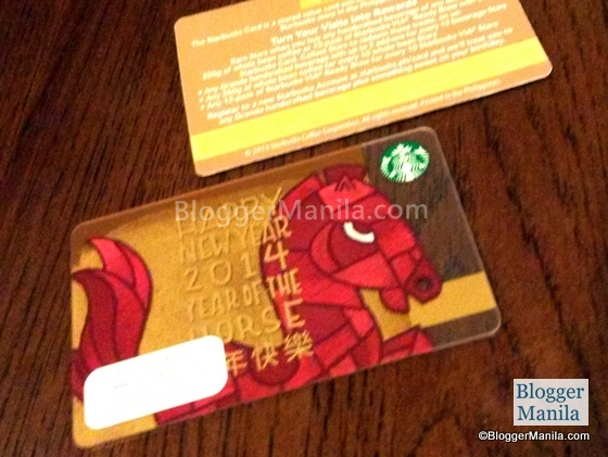Chinese New Year Starbucks Card