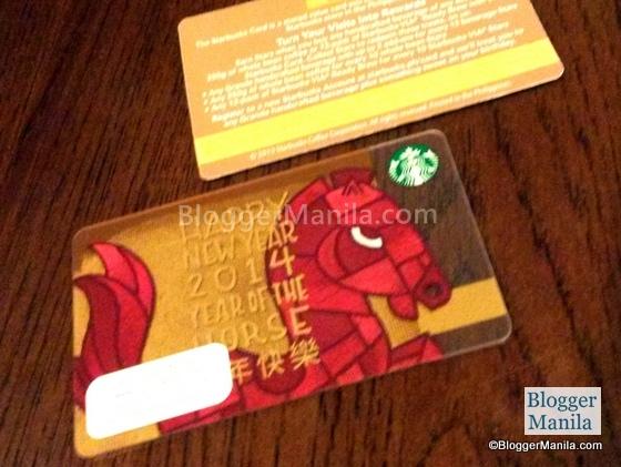Chinese New Year Starbucks Card
