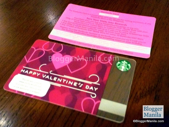 Valentine's Day Starbucks Card
