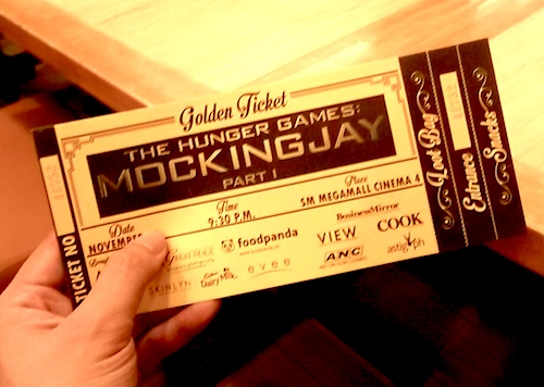 Hunger Games: Mockingjay Movie with Golden Ticket