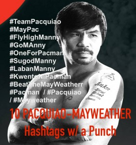 Pacquiao-Mayweather Hashtags