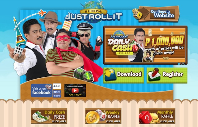 """Just Roll It"" Website"