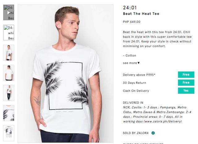 Shopback Zalora T-Shirt