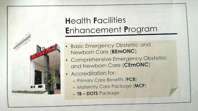 Health Facilities Enhancement Program