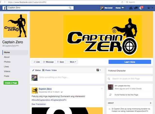 Captain Zero Facebok