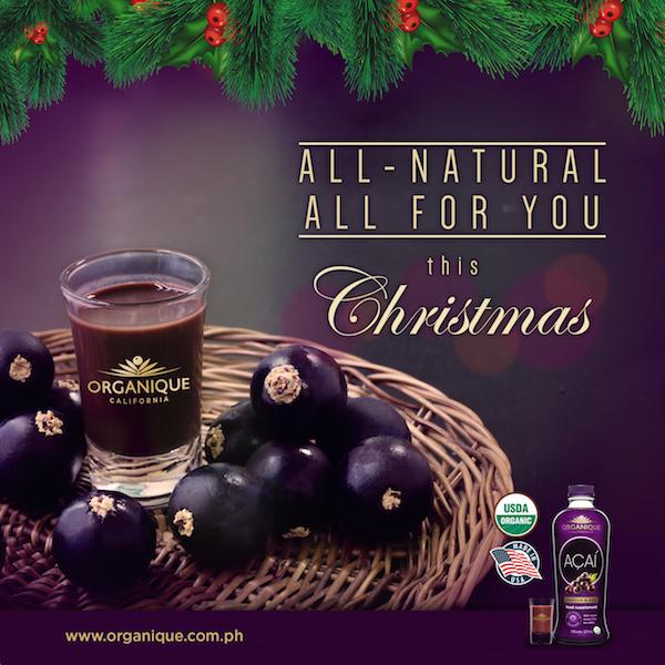 organique acai shares healthy christmas greetings