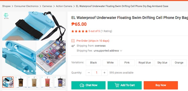 Shopee Waterproof Smartphone Case