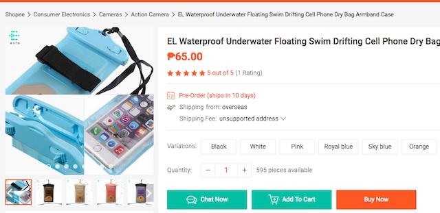 Shopee Waterproof Smartphone Case