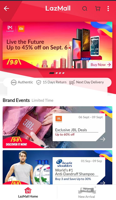 Lazada Launches LazMall, Starts with Lazada 9.9 Sale