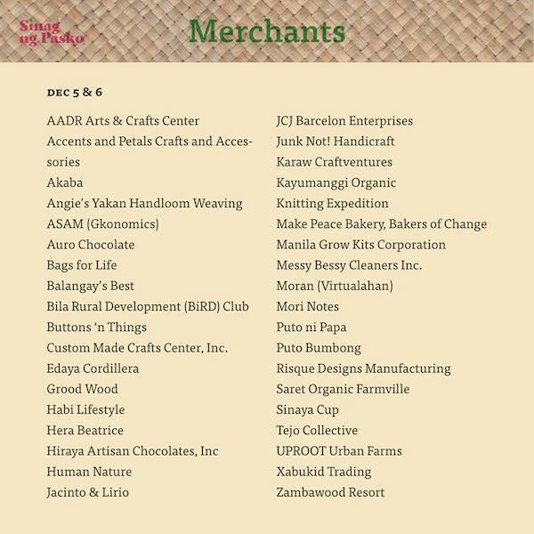 Sinag Ng Pasko Merchants