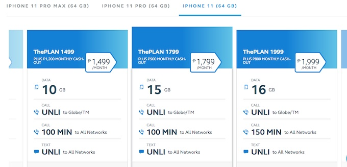 Globe iPhone 11 Postpaid Plan