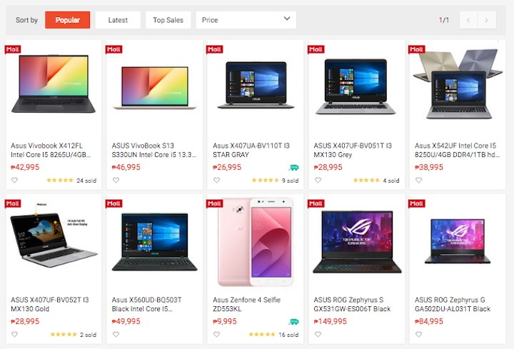 Shopee Asus
