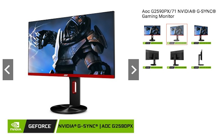 AOC NVIDIA G-SYNC Gaming Monitor