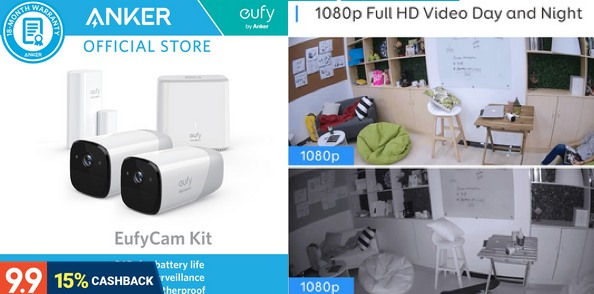 Anker Eufy Cam Kit 1080p Wire-Free Security AI Camera