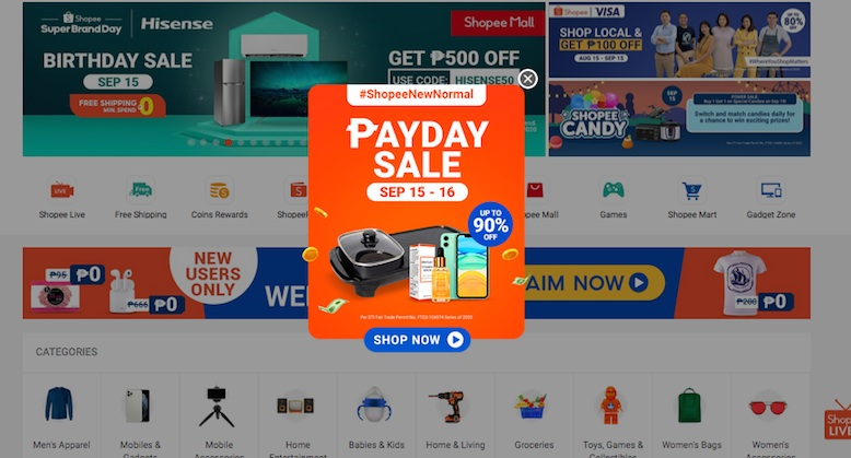 Shopee PayDay Sale