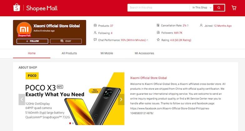 Xiaomi Shopee