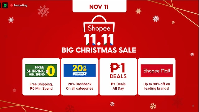Shopee 11.11 12.12 Big Christmas Sale