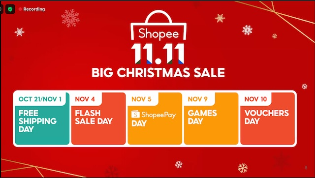 Shopee Christmas Calendar
