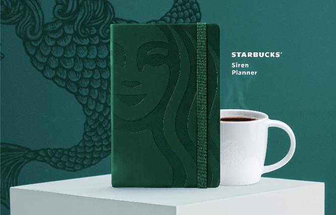 Starbucks Siren Green Planner